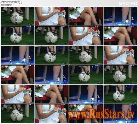 Ирина Шадрина в очень коротком платье большое декольте, шпильки ноги крупным планом Ирина. TV presenter sexy legs upskirt Irina Shadrina